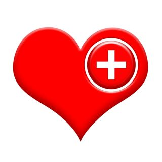 Heart medical cross small 1